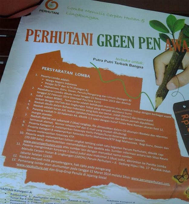Perhutani Green Pen Award | Rayakultura.net